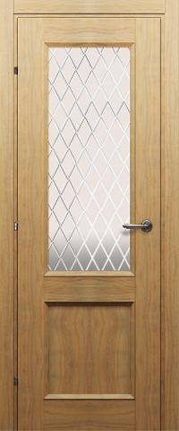 Дверь ДО 3324 (орех бискотто, остекленная CPL), фабрика Краснодеревщик