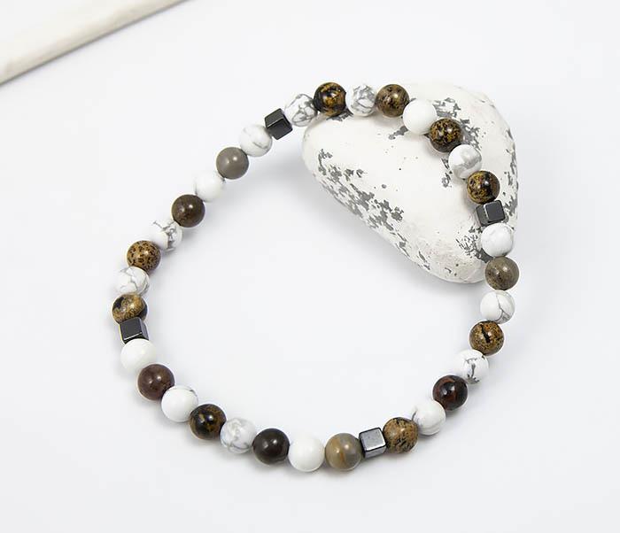 BS823 Ярий мужской браслет из разных натуральных камней