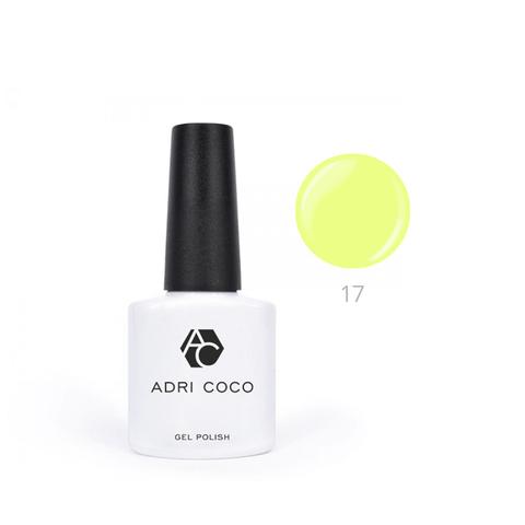Гель-лак ADRICOCO Pretty dolly №17 неоновый лимонный (8 мл.)