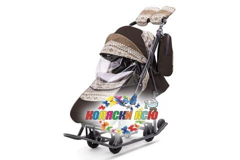 Санки коляска PIKATE Скандинавия «Шоколад»