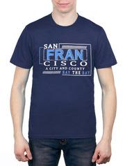 461493-12 футболка мужская, темно-синяя