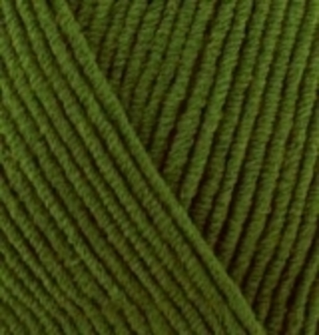 Пряжа Cotton gold Alize 35 Зеленый, фото