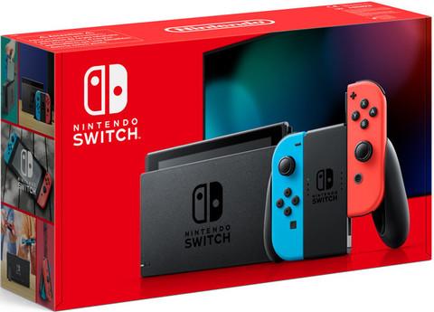 Игровая консоль Nintendo Switch (неоновый красный/неоновый синий) (вторая ревизия)