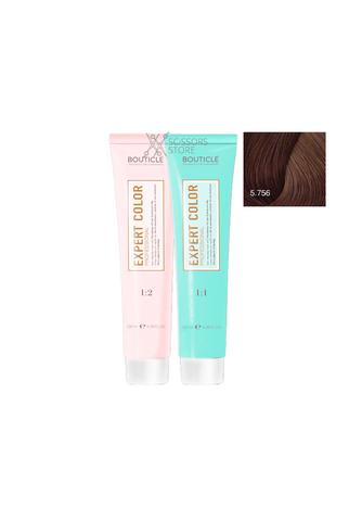 Expert Color Hair Color Cream 5/756 светлый шатен махагоново-фиолетовый 100 мл