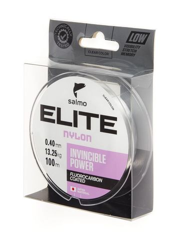 Леска монофильная SALMO Elite Fluoro Coated Nylon, 100 м, 0,40 мм, прозрачная