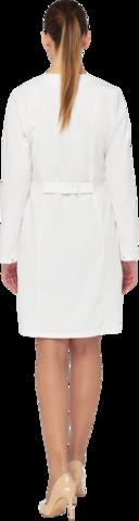 Халат женский КАРИНА белый-серый ткань Оптима