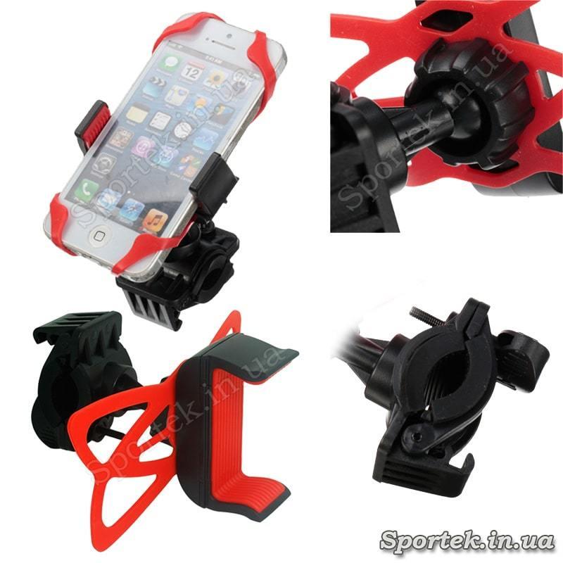 Силіконове кріплення Yo-B089 на кермо велосипеда для смартфонів 4.5-6 дюймів - види