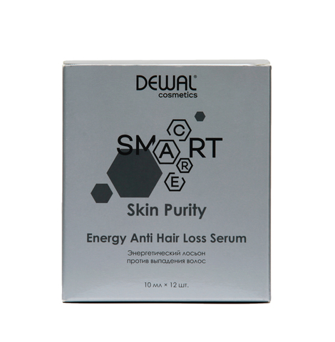 Лосьон против выпадения волос Dewal Cosmetics  (DCB20301) SMART CARE Skin Purity Energy Anti Hair Loss Serum 12 шт по 10 мл