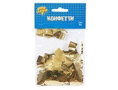 Конфетти фольга, Квадрат Золото, 1,5см, / 20гр. /