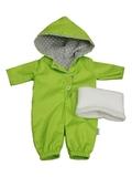 Комбинезон с баской - Зеленый. Одежда для кукол, пупсов и мягких игрушек.