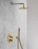 Встраиваемый смеситель для душа TZAR 341502SOC золотой, на 2 выхода - фото №2