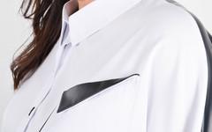 Ніколь. Жіноча сорочка для великих розмірів. Білий.