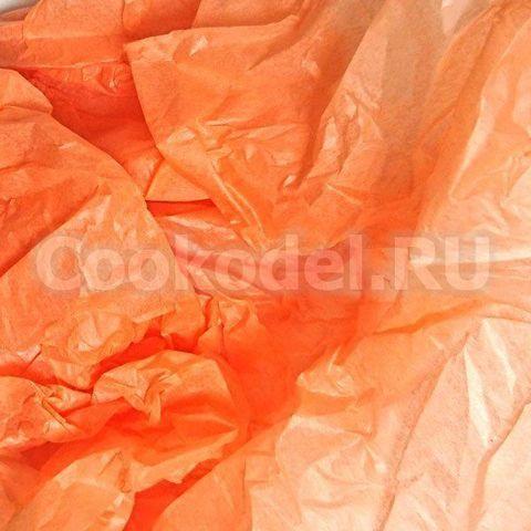 Бумага тишью Персиковый 10 листов