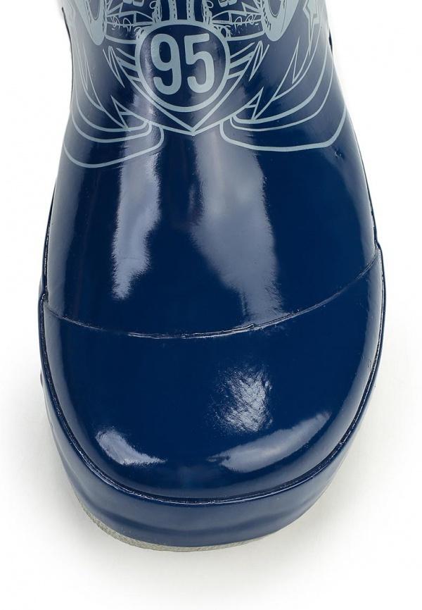 Резиновые сапоги Тачки (Cars) на шнурках для мальчиков, цвет синий
