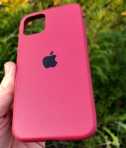 Чехол iPhone 11 Pro Glass Pastel Matte silicone /camellia/
