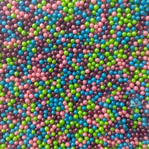 Посыпка РИС ВОЗДУШНЫЙ 50гр МИКС (фиолетовый+голубой+розовый+зеленый)