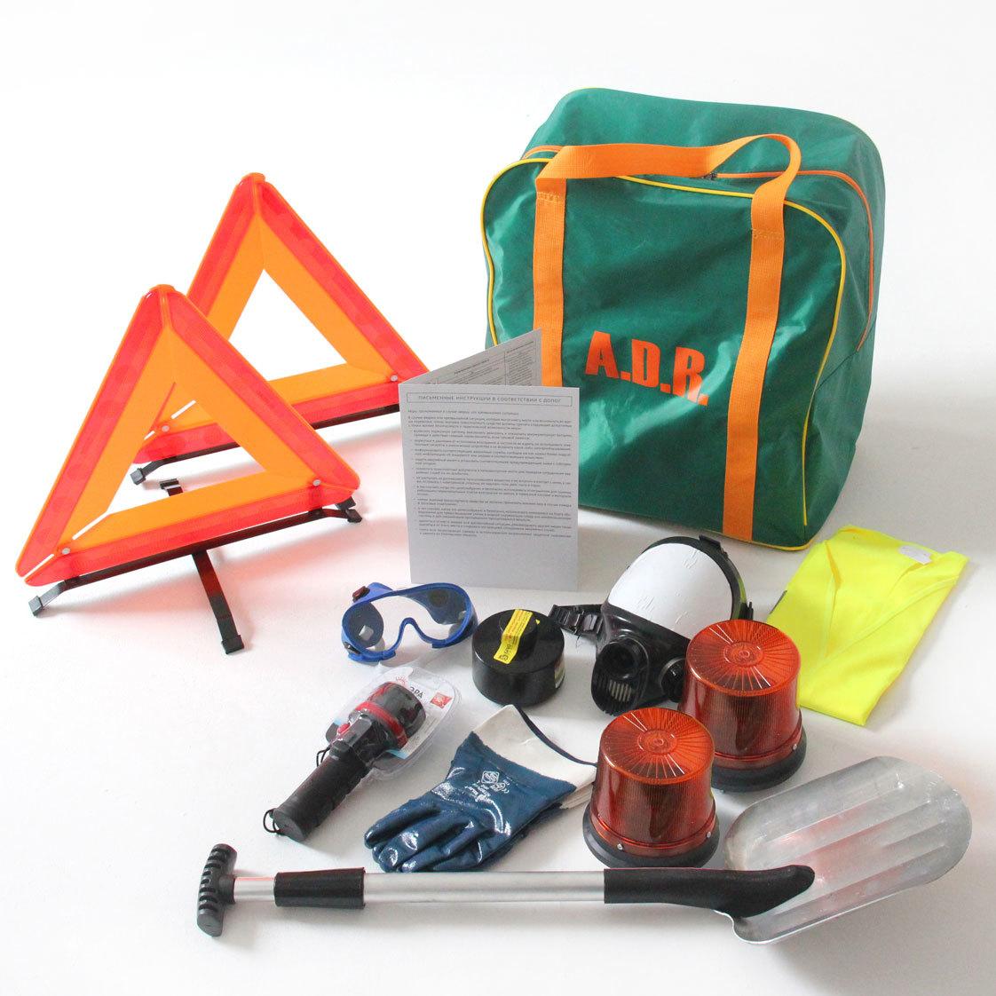 ADR комплект для опасных грузов, которым присвоен знак опасности № 2.3 (по ДОПОГ и ТР ТС 018/2011)