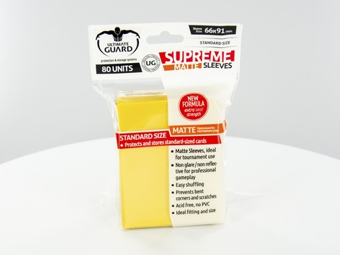 Supreme Sleeves Standard Size Matte Yellow