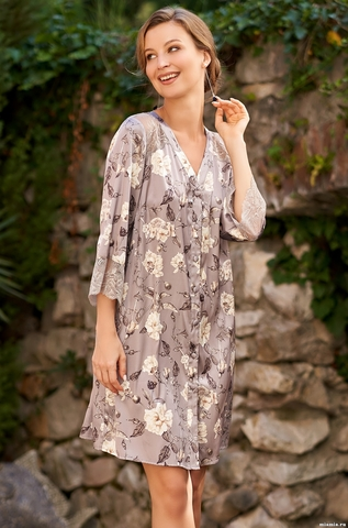 Рубашка халат на пуговицах  Mia-Amore  GRACIA ГРАЦИЯ 3587