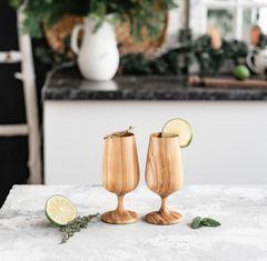 Набор бокалов для вина из дерева «Сибирский вяз-2», фото 3