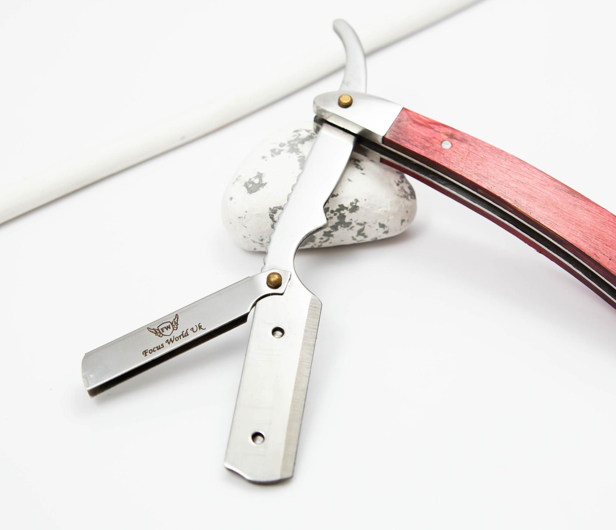 RAZ336-2 Бритва шаветка для сменных лезвий с деревянной ручкой фото 07