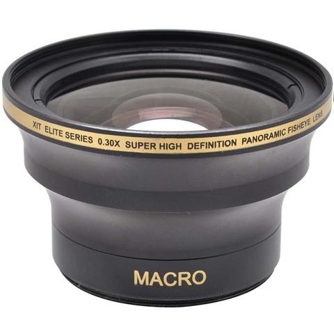 Фишай Fisheye линза 0.30x HD для Nikon D7000, D3200, D5100, D90, 1 V1, Canon