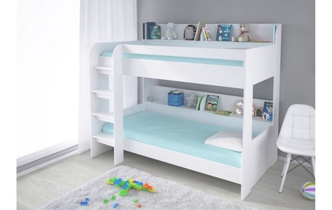 Кровать 2-х ярусная Polini kids Simple 5000, белый