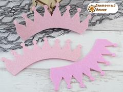 Заготовка Корона классическая светло-розовая