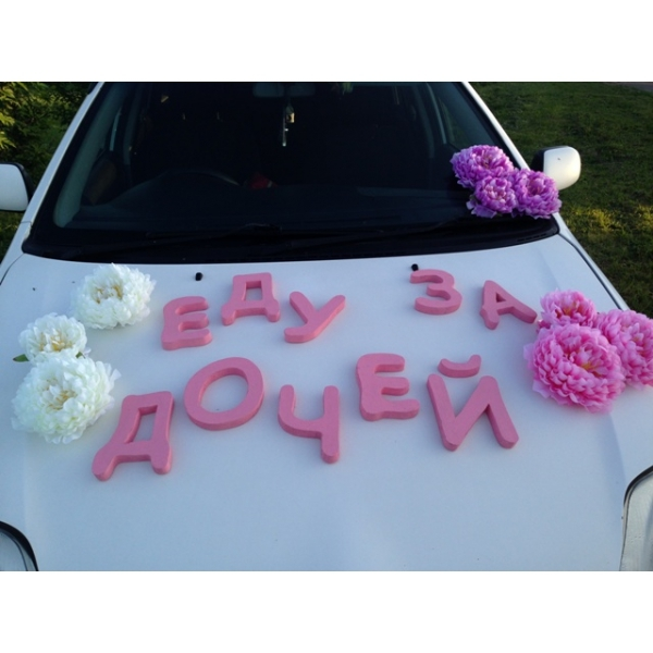 Набор Еду за дочей с цветами 9 шт