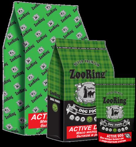 ZooRing Active Dog мясо молодых бычков с хондрозащитными агентами 20 кг
