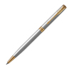 Parker Sonnet Core Slim - Stainless Steel GT, шариковая ручка, M, BL