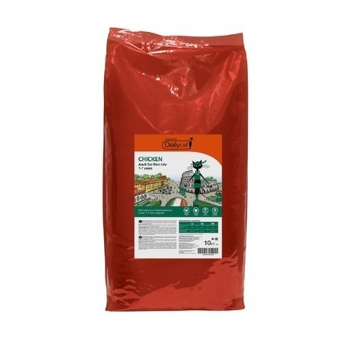 3 кг. Dailycat Casual Line Adult Steri Lite Chicken корм для стерилизованных кошек с курицей