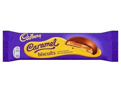 Печенье Cadbury Caramel biscuits 130 гр