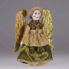 Ёлочная игрушка Ангел текстильный