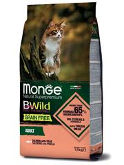 Monge Cat BWild Grain Free Сухой корм для взрослых кошек из лосося, беззерновой