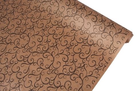 Бумага крафт 40гр/м2, 70см x 10м, Узор, цвет:черный