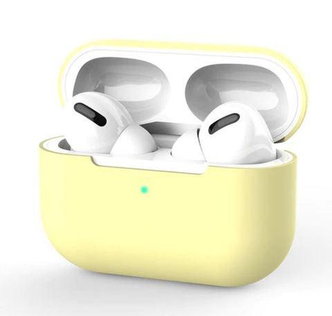 Силиконовый чехол для Airpods Pro желтый