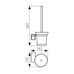 Держатель для туалетной щетки (ершик) настенный KAISER Glory KH-1506 схема