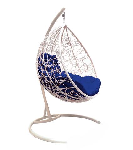 Кресло подвесное Lagos white/blue