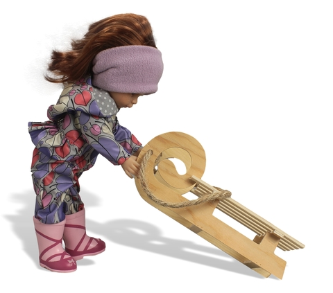 Комбинезон с баской - На кукле. Одежда для кукол, пупсов и мягких игрушек.