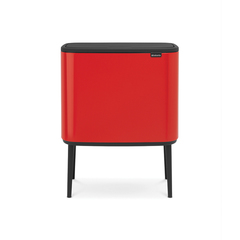 Мусорный бак Touch Bin Bo (11 л + 23 л), Пламенно-красный