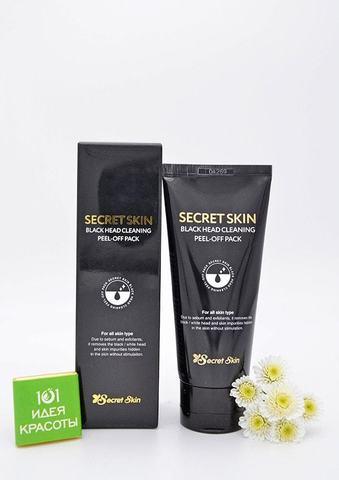 Secret Skin Black Head Cleaning Peel-Off Pack Маска-пленка для лица с древесным углем для глубокого очищения кожи любого типа, 100мл