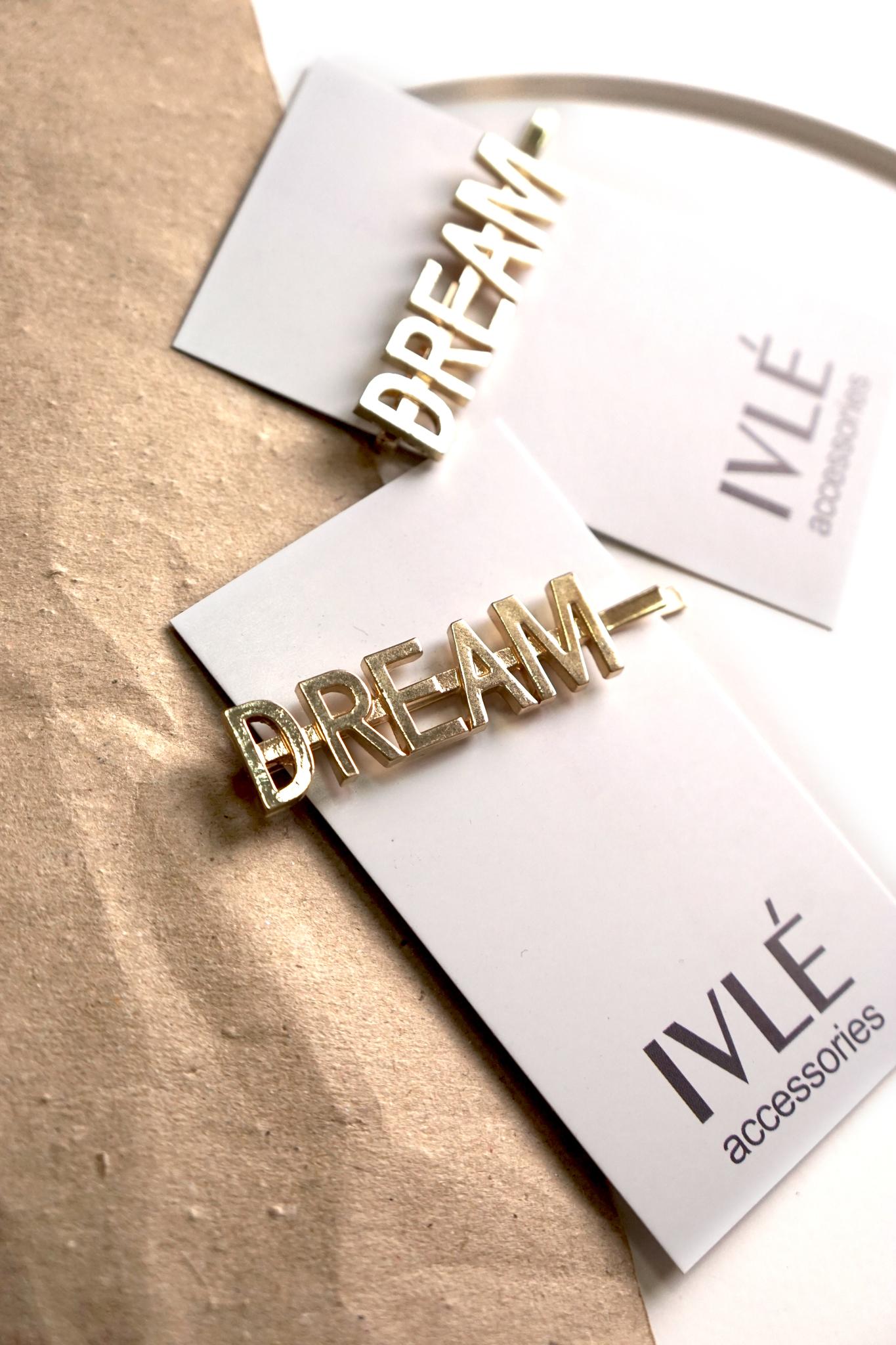 Заколка золото DREAM
