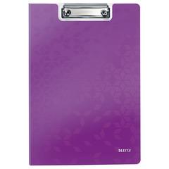 Папка-планшет Leitz Wow A4 пластиковая сиреневая с крышкой