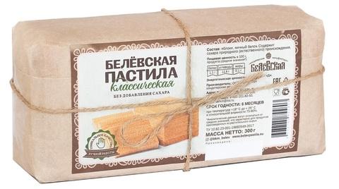 Пастила Белёвская яблочная классическая без сахара, в пергаменте 300 г