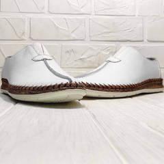 Мужские слипоны мокасины кожаные кэжуал стиль летние Luciano Bellini 91724-S-304 All White.