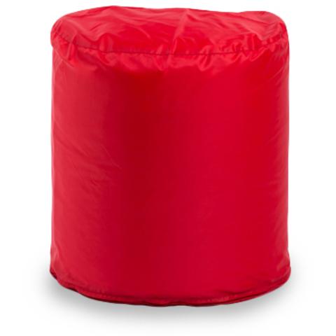 Пуффбери Внешний чехол Пуфик циллиндр  50x45x45, Оксфорд Красный