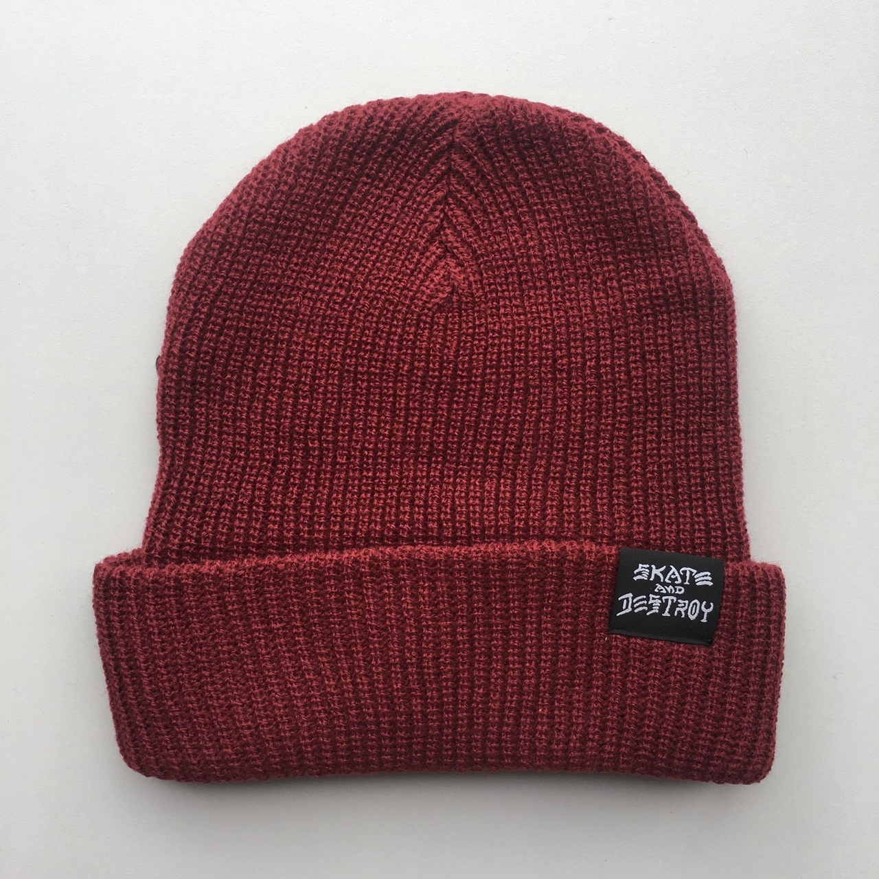 Шапка Thrasher Skate and Destroy Knit Beanie Maroon