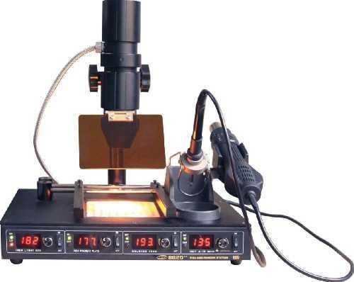 Паяльная станция инфракрасная ELEMENT 862D++ (Инфракрасная пушка, преднагреватель, фен, паяльник)