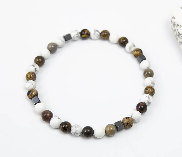 BS823 Ярий мужской браслет из разных натуральных камней фото 03